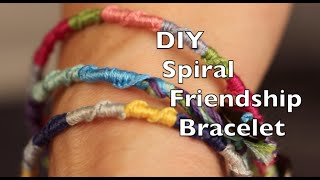 DIY Friendship Bracelet | Easy Spiral Tutorial