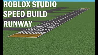 ROBLOX STUDIO [ SPEED BUILD ] AIRPORT-PART 1. RUNWAY