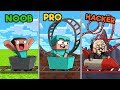 Minecraft - ROLLER COASTER CHALLENGE! (NOOB vs PRO vs HACKER)