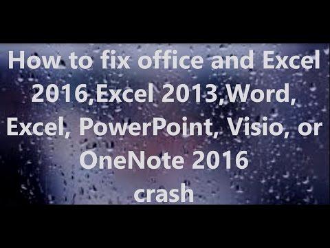 FIx Ms Office 2010 365 And Excel 2016 Excel 2013 Crash Or Hangs Error 1401  Fix video