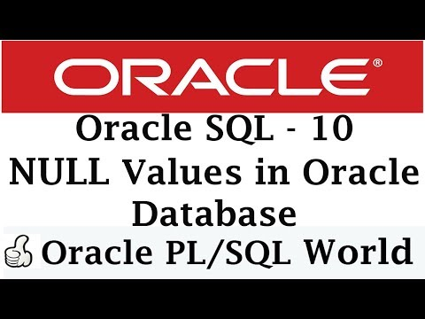 NULL Value In Oracle Database | Oracle Tutorials For Beginners