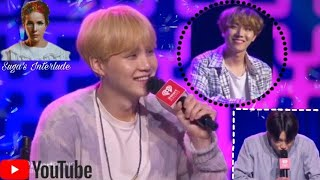 IheartRadio LIVE show ~ BTS listening to Suga's interlude / Suga talking about Halsey's collab