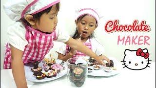 Membuat COKELAT Hello Kitty 💖 Jessica Jenica Jadi Koki Cilik with CHOCOLATE Maker