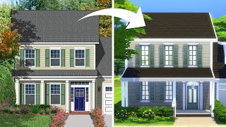 I tried using a real floorplan to recreate a house in The Sims 4