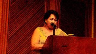 Norcy María Merlano lee poema suyo. Evento: Plenilunio 86