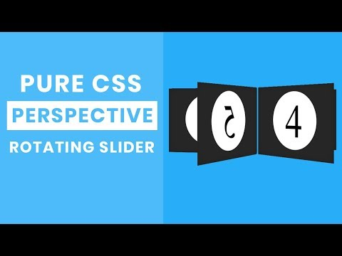 Pure css perspective rotating Slider | CSS Carousel slider tutorial thumbnail
