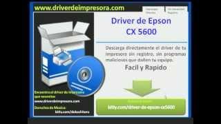Driver de Epson cx5600 Descarga Directa