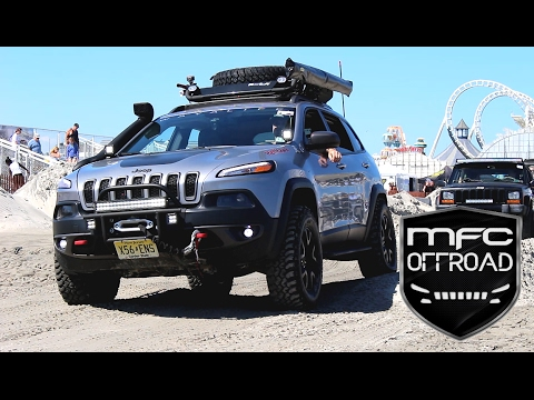 Modified Jeep Cherokee KL Takes on a Beach Obstacle Course ...