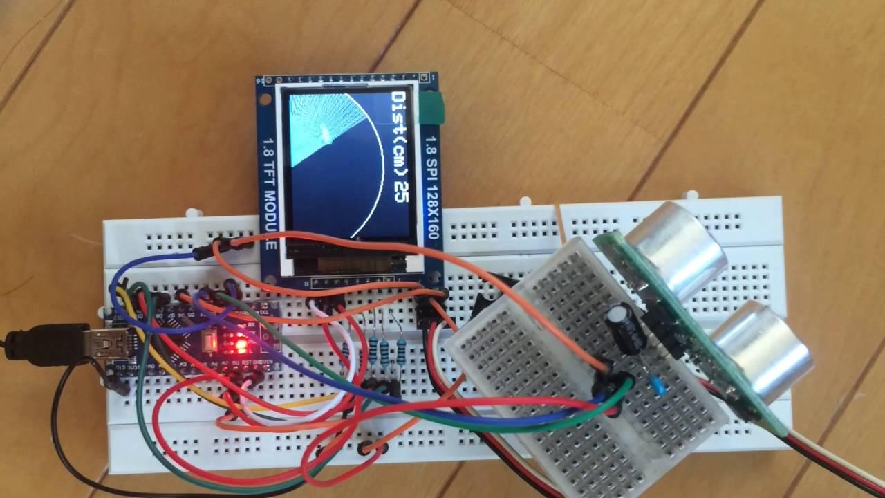 Arduino Sonar Radar 1 8 Inch Tft Display 128x160 Spi