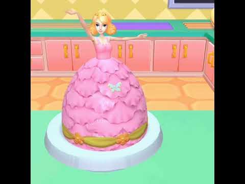 Bermain Masak Memasak Kue Ulang Tahun Bentuk Boneka Barbie Game Real Cake Maker Youtube