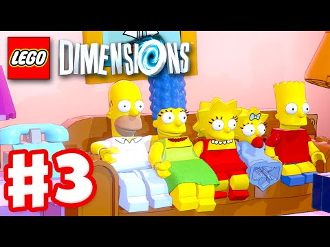 LEGO Dimensions - Gameplay Walkthrough Part 3 - The Simpsons! (PS4, Xbox One)
