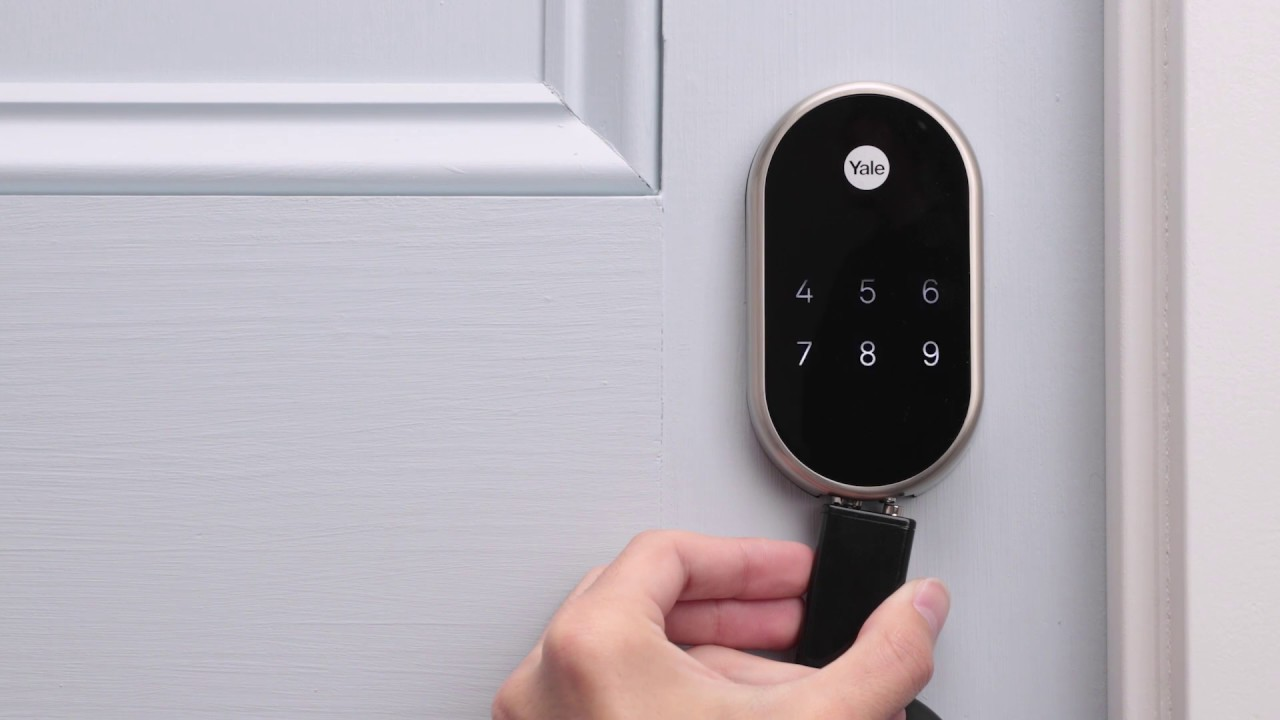 how to replace your nest yale lock batteries [ 1280 x 720 Pixel ]
