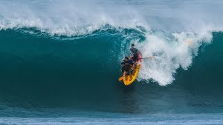Kayak Surfing Huge Sunset Beach | Jamie O'Brien