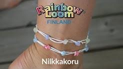 Rainbow loom bands ohje - Nilkkakoru