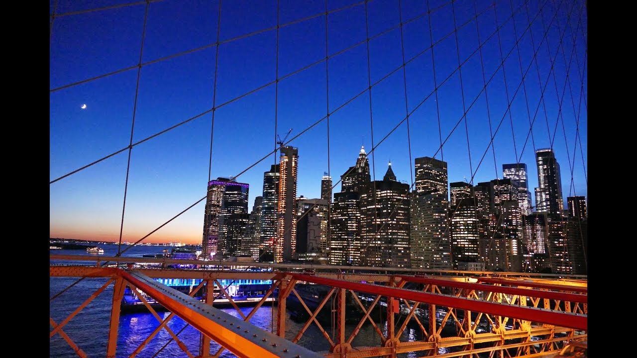 Brooklyn Bridge Day to Night Tour, New York City, Tourist Attractions of NYC - YouTube
