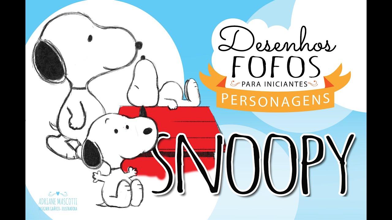 Como Desenhar O Snoopy How To Draw Snoopy Youtube