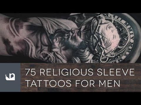 75 Religious Sleeve Tattoos For Men