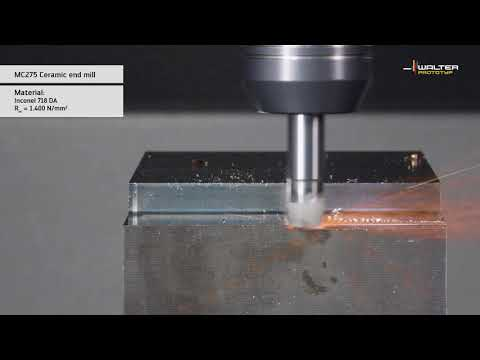 MC275/MC075 ceramic milling cutters cost-efficient machining of nickel-based alloys