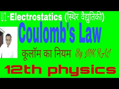 Coulomb's Law |Electrostatics |part2|Hindi medium|By MK RAI