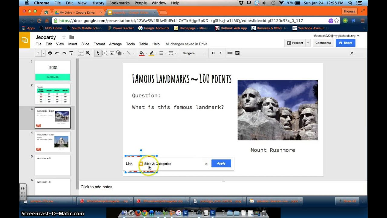 Google Slides Jeopardy Video