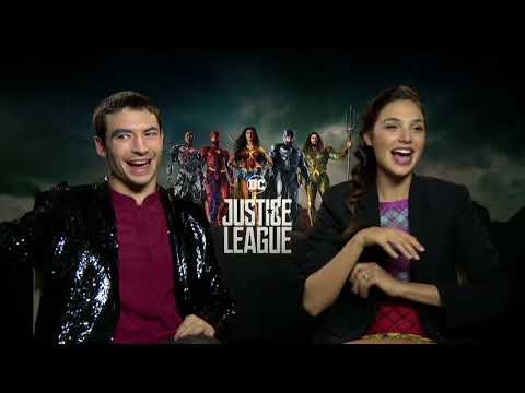 Gal Gadot & Ezra Miller on deleted JUSTICE LEAGUE s, Flash's name, Wonder Woman, more