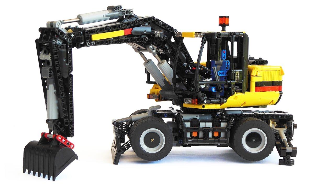 LEGO Technic Wheel Excavator - YouTube