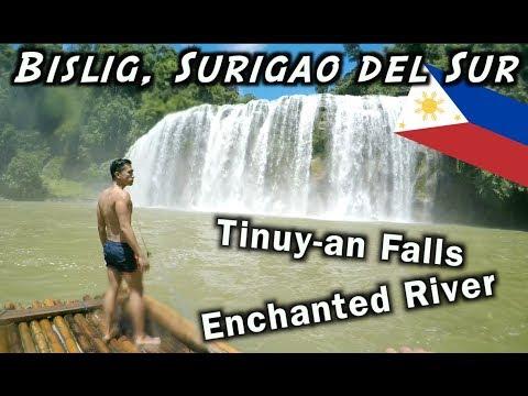 TINUY-AN FALLS, ENCHANTED RIVER, BISLIG CITY    PHILIPPINES TRAVEL VLOG