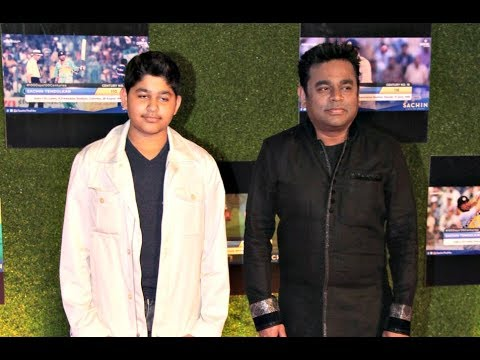 A R Rahman With Son A R Ameen At Sachin A Billion Dreams Grand Premiere