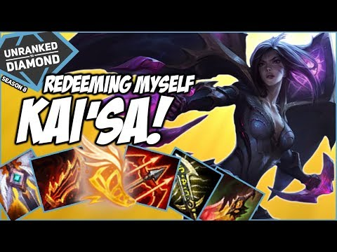 REDEEMING MYSELF ON FULL BUILD KAI'SA! - Unranked to Diamond - Ep. 128 | League of Legends