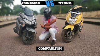 Suzuki Burgman Street 125 vs TVS NTorq 125 Comparison | Which is best | Milegaa Test| | Price |Hindi
