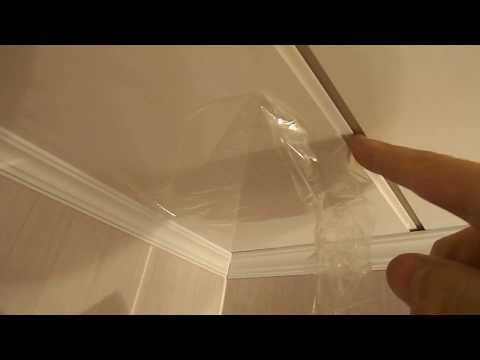 Потолок  из  панелей  установка последней полосы. Ремонт в доме своими руками.  Ремонт строительство