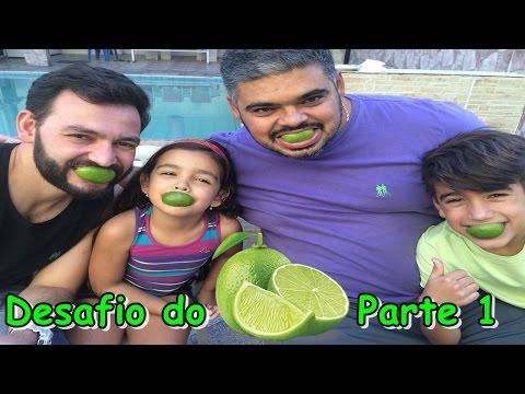 Desafio do Limão - Parte 1 (Ft.  Papai, Gravando com Fabinho e Tio Fabio)