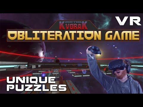 Doctor Kvorak's Obliteration Game: Save or destroy planets in VR with puzzle platforming gameplay
