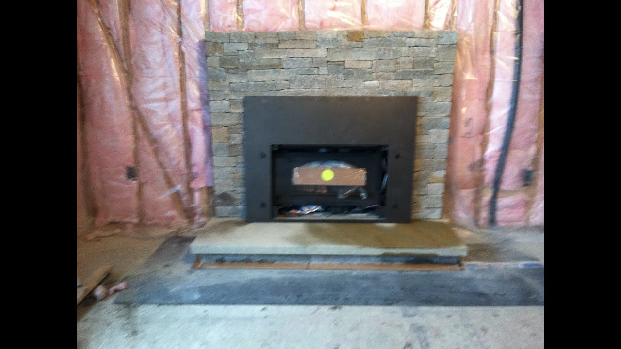 USING STONE VENEER (CUT STONE) We rebuild this brick fireplace