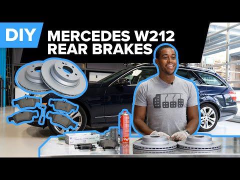 How To Inspect & Replace the Rear Brakes on a Mercedes-Benz (W212 E320, E350, E500, E550, & More)