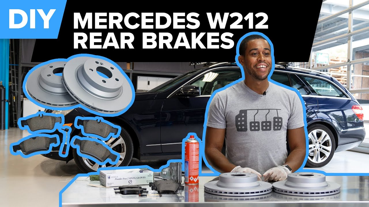 How To Inspect & Replace the Rear Brakes on a Mercedes-Benz (W212 E320, E350, E500, E550, & More)