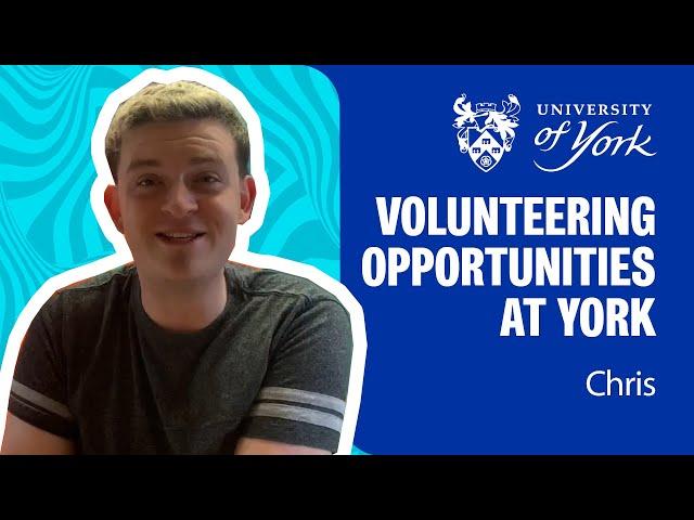 Volunteering opportunities at the Uni of York