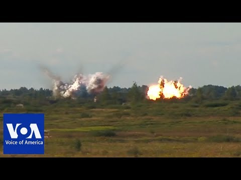 Russian Air Force Bombing Drills