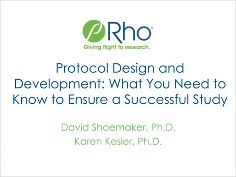 Protocol Design & Development: What You Need to Know to Ensure a Successful Study