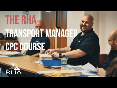 The RHA Transport Manager CPC Training Course