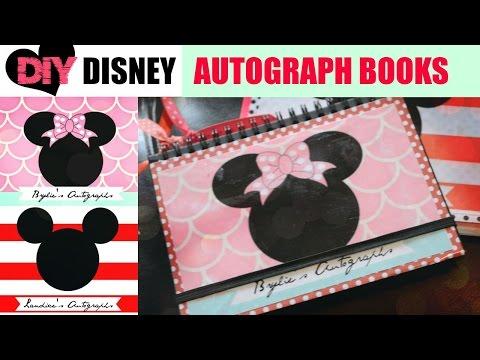 DIY Disney Autograph books for Disneyland and Disneyworld