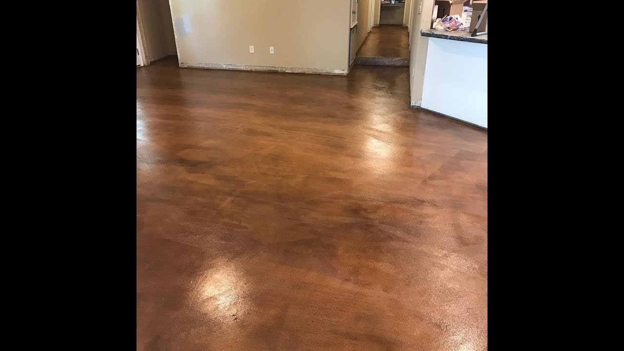 Using Tinted Concrete Sealer to Repair Stained Floors