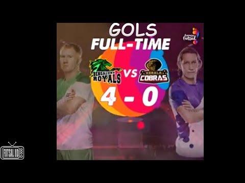 Gols Bengaluru Royals (Scholes) 4 x 0 Kerala Cobras (Michel Salgado) Premier Futsal Índia 2017