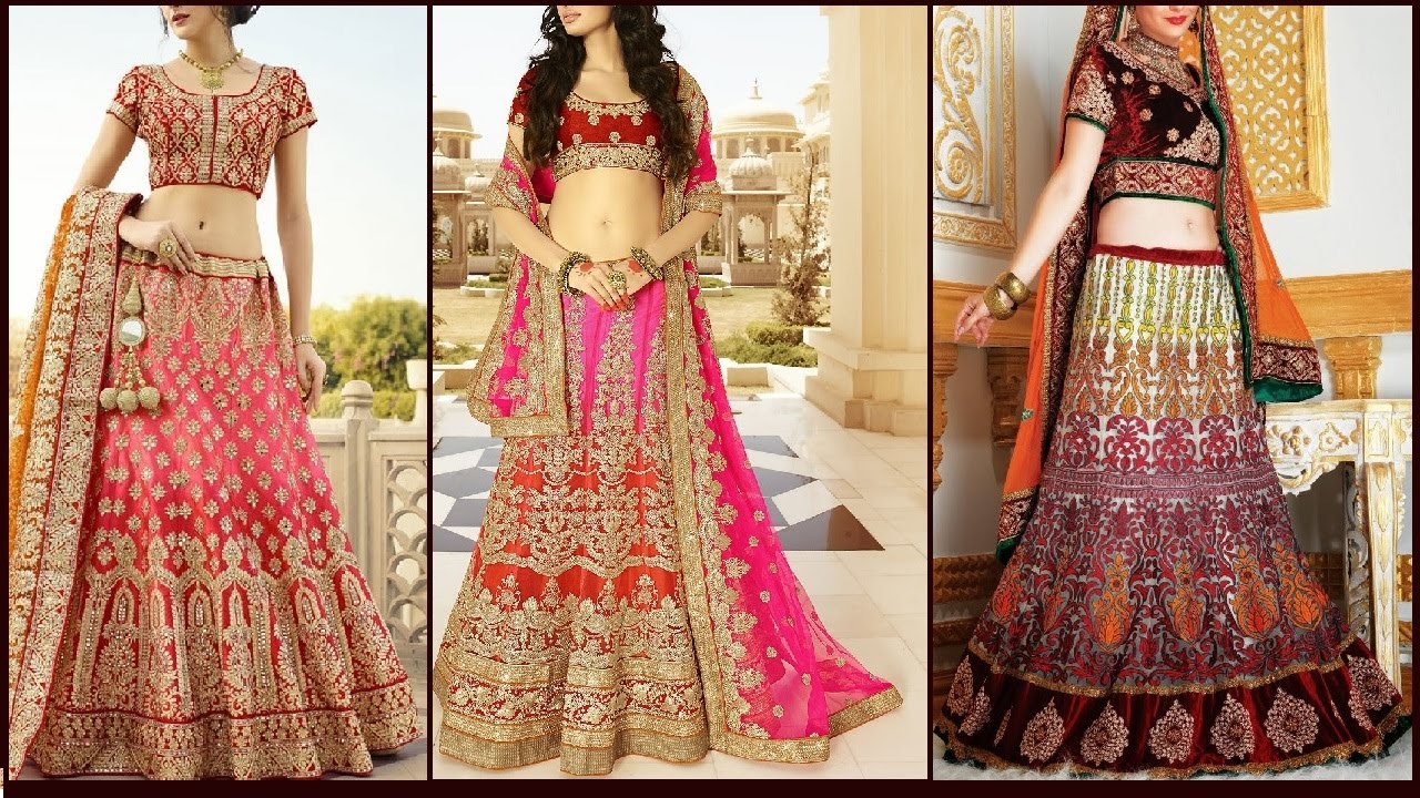 Latest Lehenga Choli Designs 2017 For Indian Bollywood Pakistani