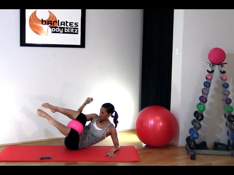 FREE Abs Workout - Pilates Ball Abs - Weighted Abs with Ball BARLATES BODY BLITZ