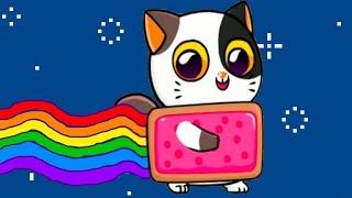 КОТЕНОК с УЛИЦЫ #4 - НЯН КЭТ Nyan Cat - Виртуальный Котик Mimitos мультик игра для детей #ПУРУМЧАТА