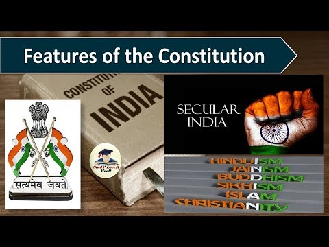 Indian Polity-L-9-Features of the Constitution-Secular- (Part-4)-(Source-Laxmikanth)- By VeeR