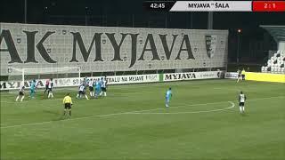 Spartak Myjava - FK Slovan Duslo Šaľa 3 : 2 (zostrih)