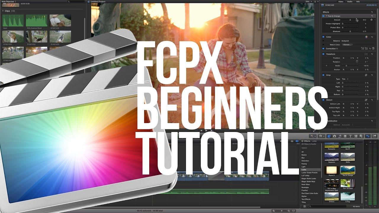 Final Cut Pro X Tutorial Beginners - YouTube