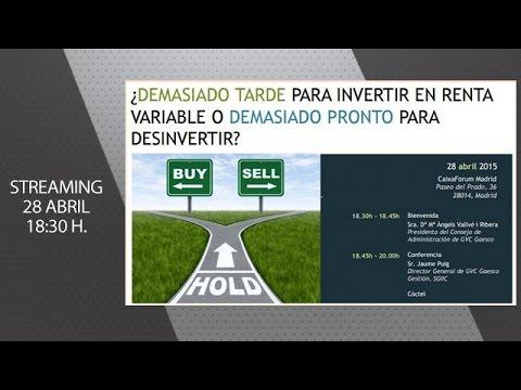 Jaume Puig: ¿Demasiado tarde para invertir en Renta Variable o demasiado pronto para desinvertir?